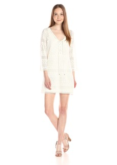 Adrianna Papell Women's Lace Long-Sleeve Dress