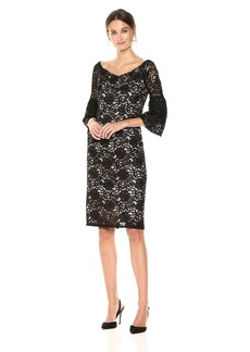 Adrianna Papell Women's Lace Off-Shoulder Sheath Dress