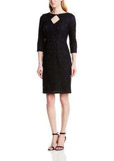 Adrianna Papell Women's Lace Orgami Neckline Dress
