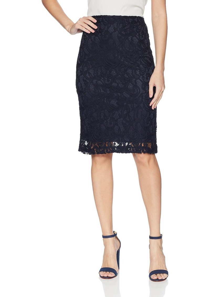Adrianna Papell Women's Lace Pencil Skirt