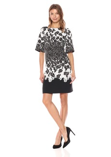 Adrianna Papell Women's Lace Print Fit and Flare
