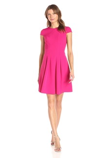 Adrianna Papell Women's Lap Over Power Stretch Fit and Flare