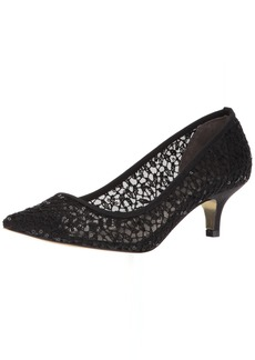 Adrianna Papell Women's LOIS-LC Pump Black Martinique lace  M US
