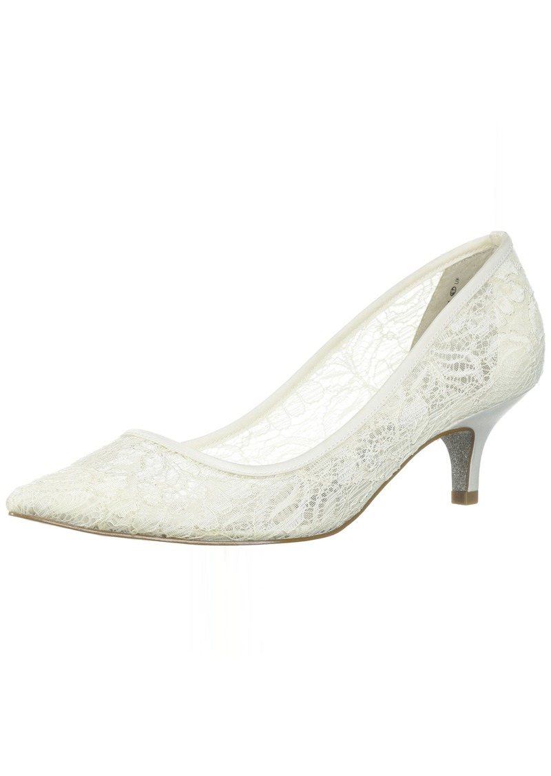 Adrianna Papell Women's LOIS-LC Pump Ivory lace  M US