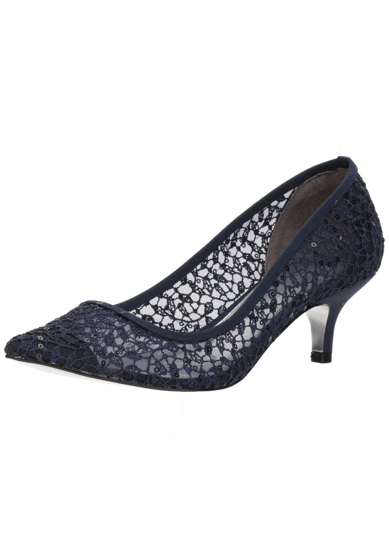 Adrianna Papell Women's LOIS-LC Pump Navy Martinique lace
