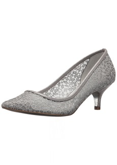 Adrianna Papell Women's LOIS-LC Pump Silver Valencia lace