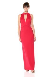 Adrianna Papell Women's Lola Jersey Long Dress red fire
