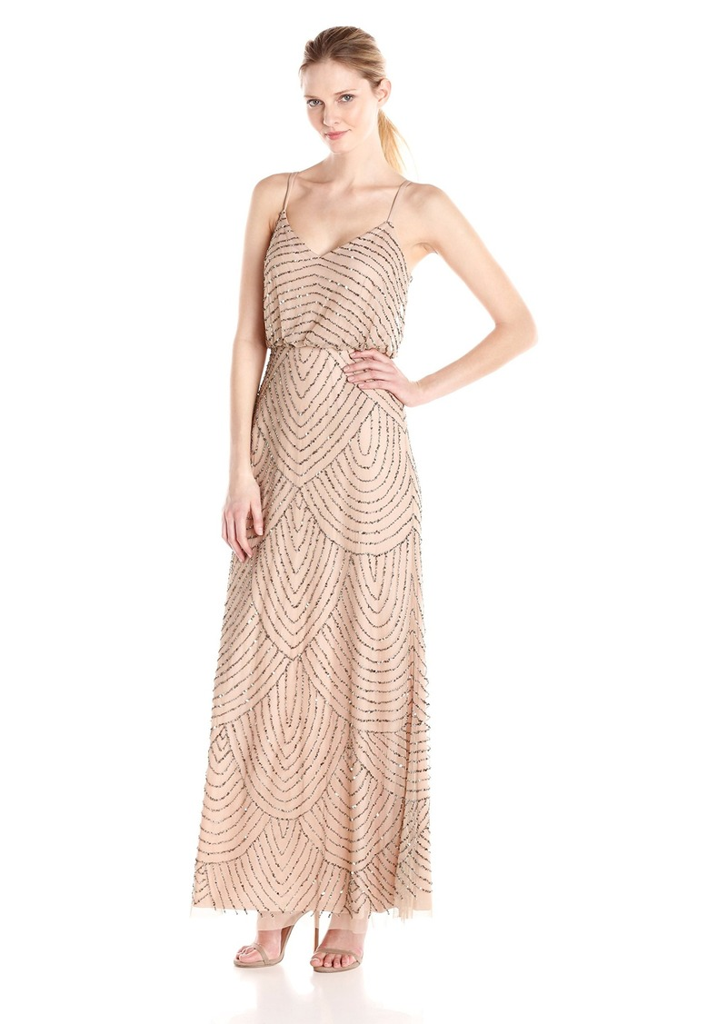Adrianna Papell Adrianna Papell Women\'s Long Beaded Blouson Gown ...