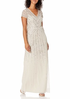 Adrianna Papell Women's Long Beaded Dress