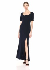 Adrianna Papell Women's Long Crepe Dress