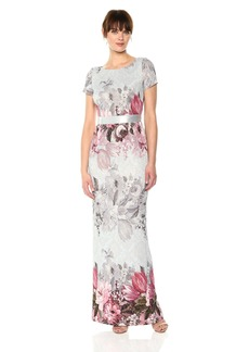 Adrianna Papell Women's Long Floral Dress