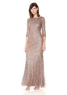 Adrianna Papell Women's Long Sleeve Beaded Dress