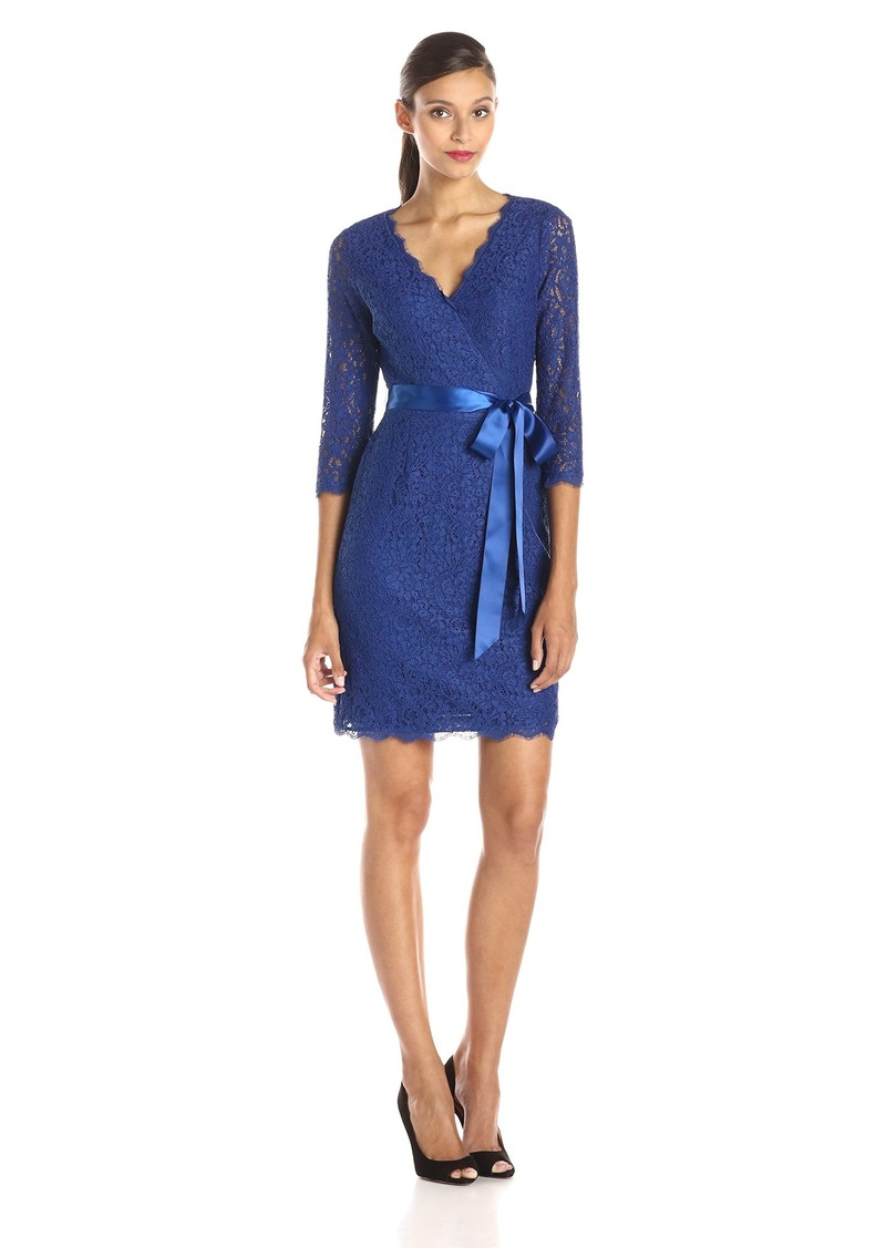 Adrianna Papell Adrianna Papell Women\'s Long Sleeve Wrap Front Lace ...