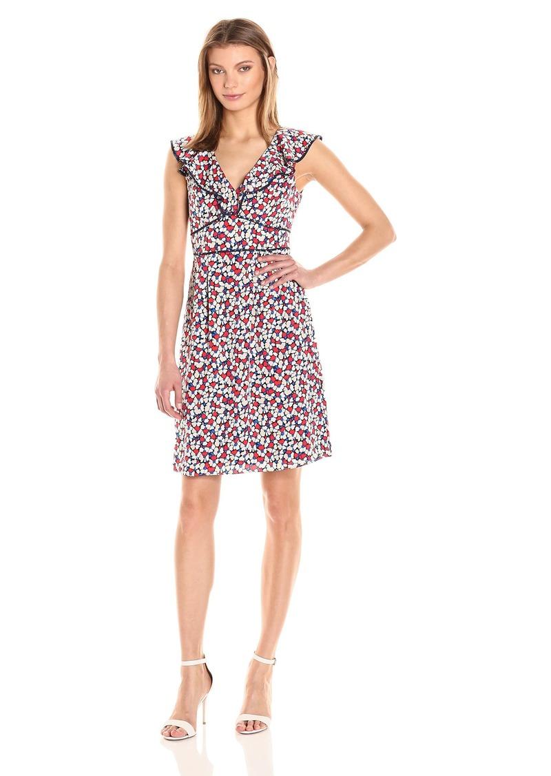 Adrianna Papell Women's Luxe Cdc Ruffle Sheath Dress