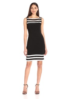 Adrianna Papell Women's Matte Jersey Colorblocked Sheath Dress