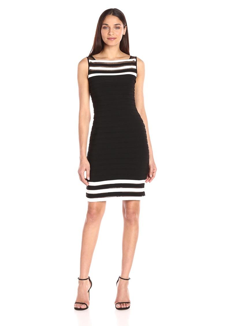 Adrianna Papell Women's Matte Jersey Colorblocked Sheath Dress