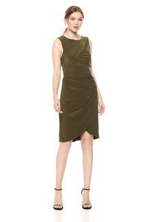 Adrianna Papell Women's Matte Jersey Gathered Sheath Dress