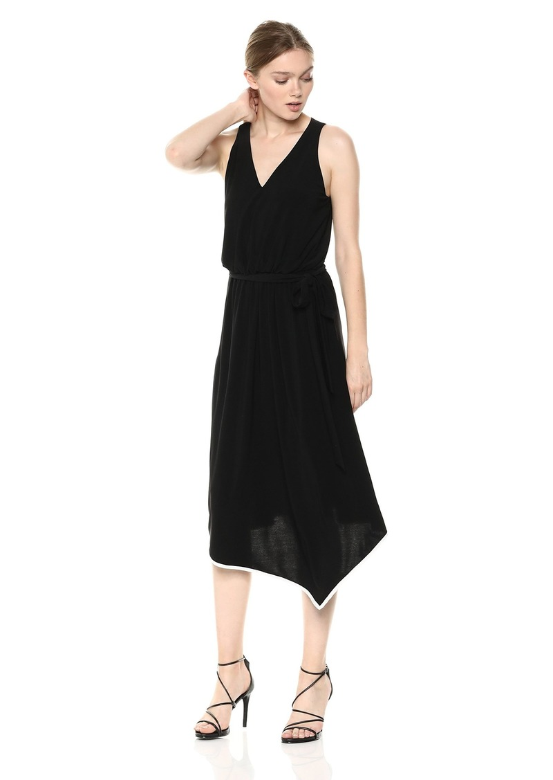 Adrianna Papell Women's Matte Jersey Hanky Hem Dress