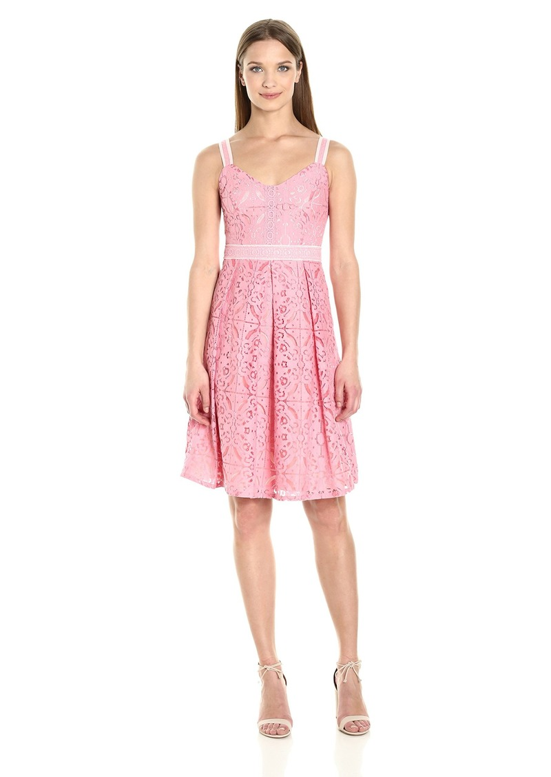 Adrianna Papell Women's Medlln Mixed Lace Sundress