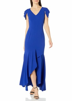 Adrianna Papell Women's Mermaid Crepe Gown