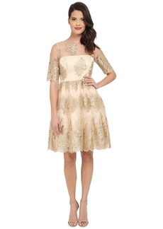 Adrianna Papell Women's Metallic Corded Lace Party Dress