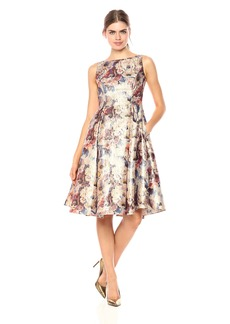 Adrianna Papell Women's Metallic Floral Party Dress