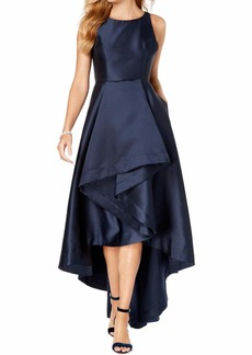 Adrianna Papell Women's Mikado HIGH Low Gown