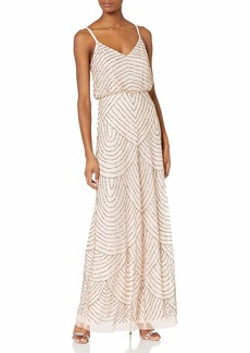 Adrianna Papell Women's Missy Long Blouson Dress  6