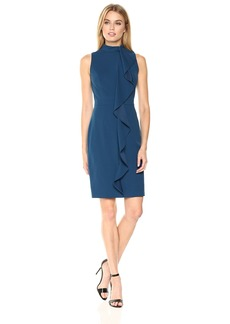 Adrianna Papell Women's Mock Neck Knit Sheath Dress