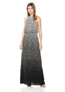 Adrianna Papell Women's Moody DOT Maxi Halter Dress