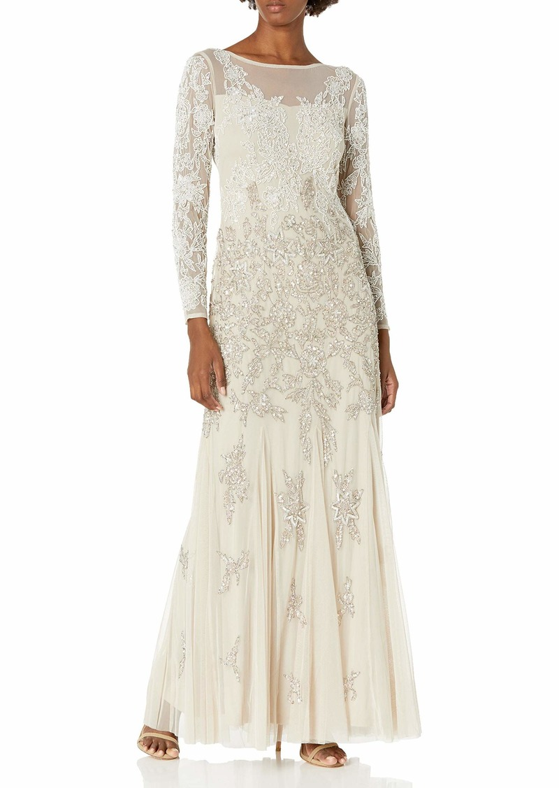 Adrianna Papell Women's Multi Beaded Gown