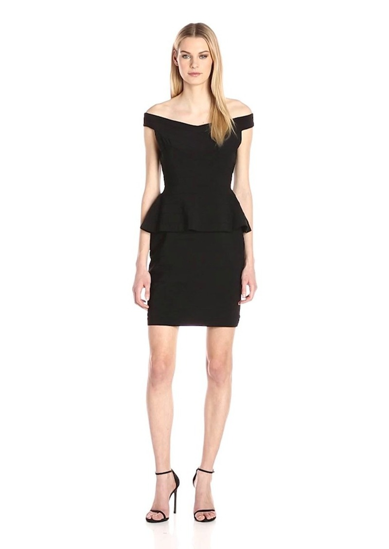 Adrianna Papell Women's Off The Shoulder Banded Peplm Dress