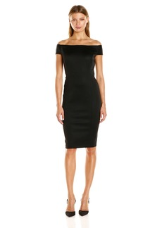 Adrianna Papell Women's Off The Shoulder Ottoman Sheath Dress