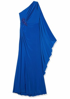 Adrianna Papell Women's ONE Shoulder Jersey Gown