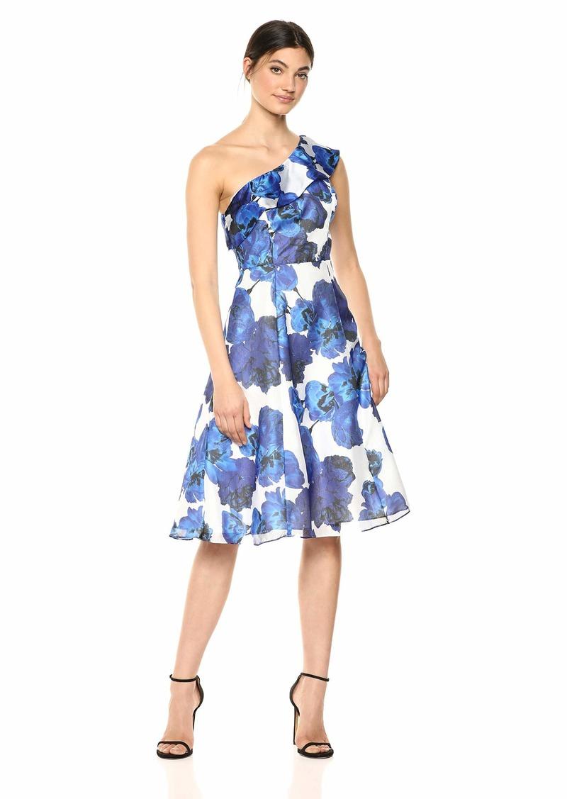 Adrianna Papell Women's One Shoulder Short Dress