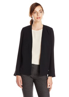 Adrianna Papell Women's Open Front Jacket with High Low