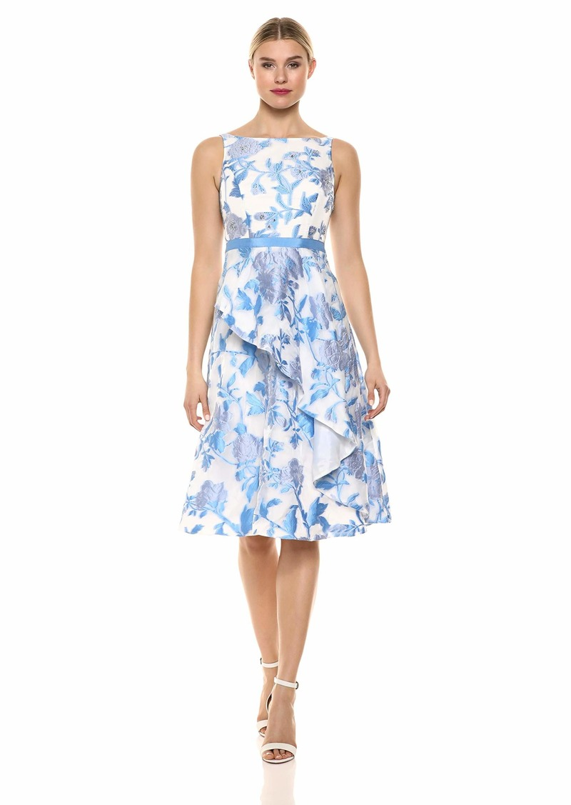 Adrianna Papell Women's Organza Jacquard Dress