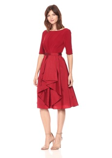 Adrianna Papell Women's Origami Taffeta and Jersey Dress