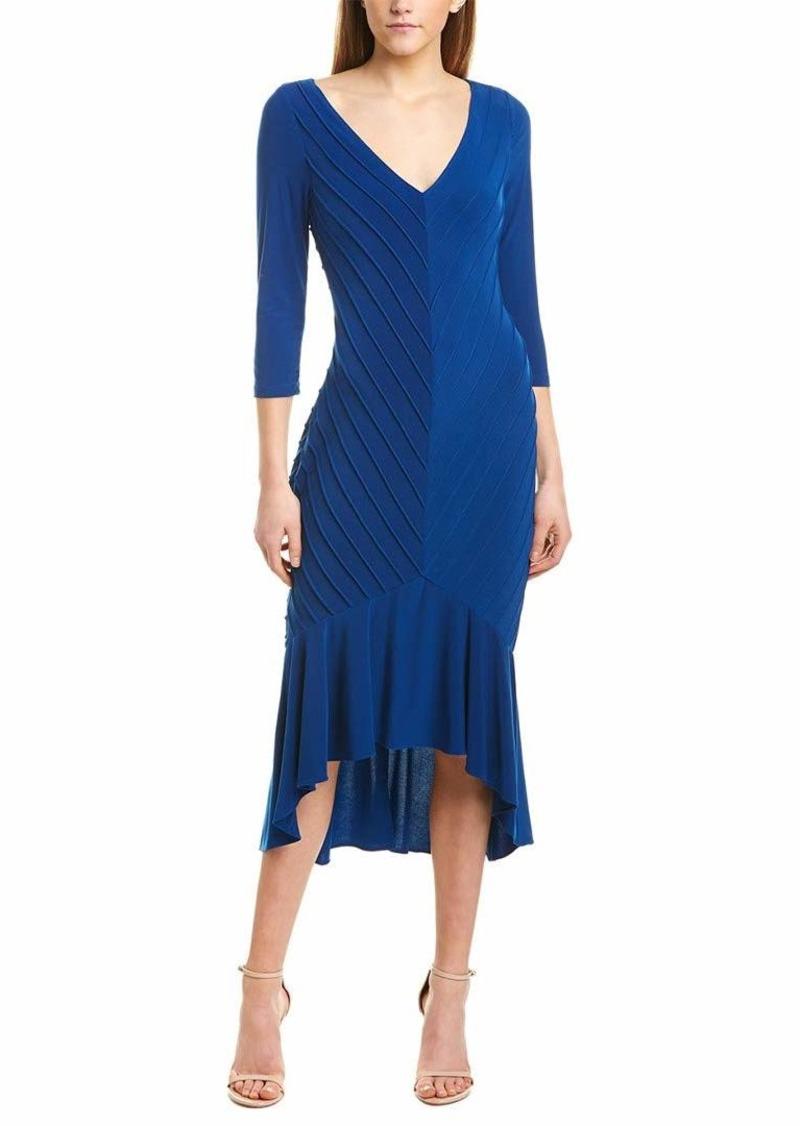 Adrianna Papell Women's Pintucked Jersey Flounce Dress