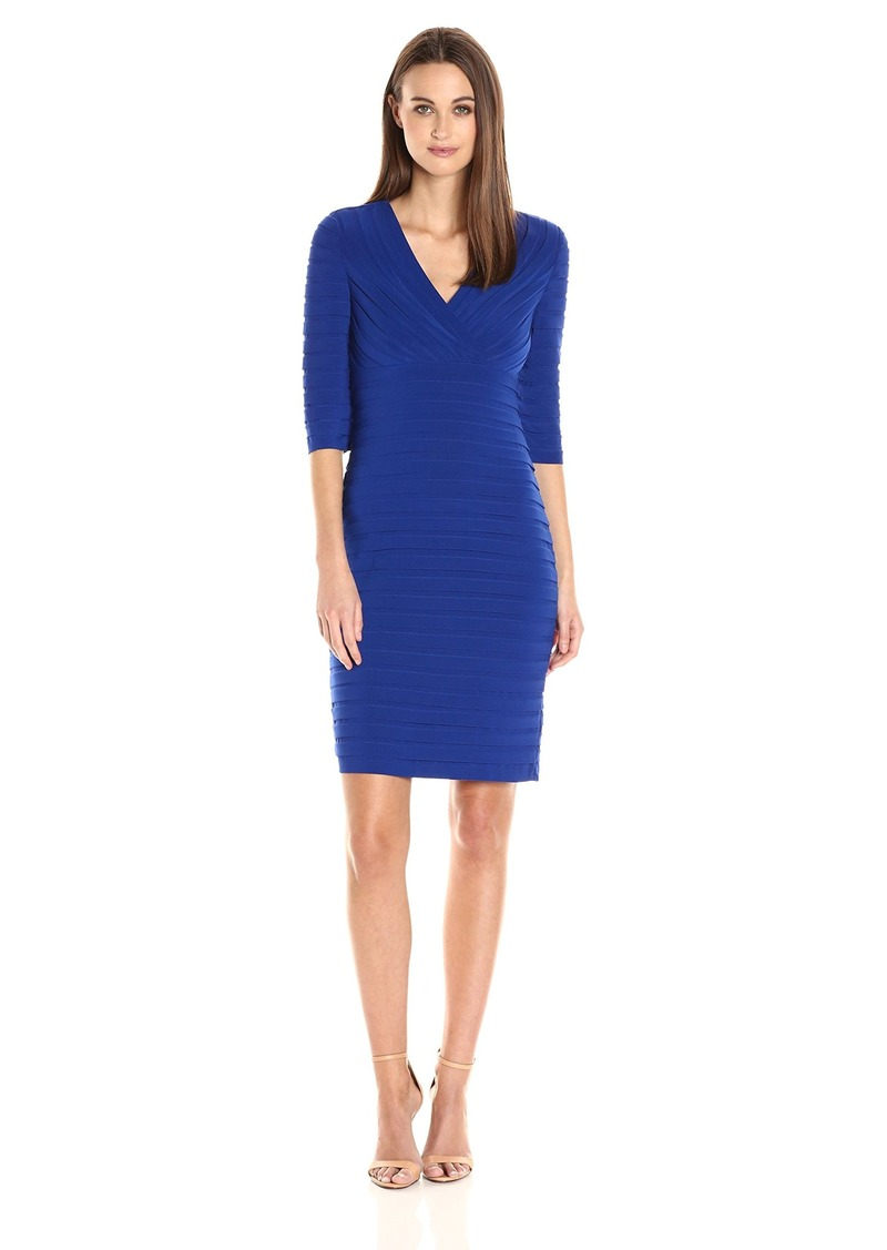 Adrianna Papell Women's Pleated Jersey Sheath Dress