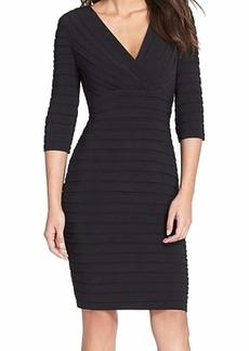 Adrianna Papell Women's Pleated Jersey Sheath Dress