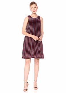 Adrianna Papell Women's Plus Size Pleated Stripe A-LINE Dress