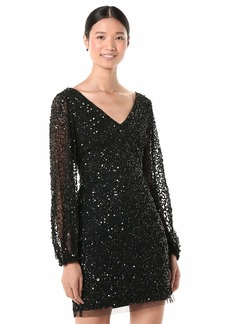 Adrianna Papell Women's Plus Size Beaded Cocktail Dress