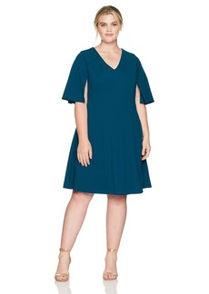 Adrianna Papell Women's Plus Size Knit Crepe Aline Fit and Flare  16W