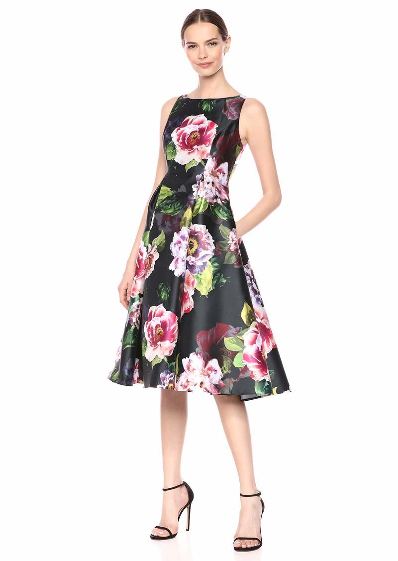 Adrianna Papell Women's Print Mikado Dress