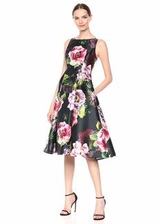Adrianna Papell Women's Plus Size Print Mikado Dress