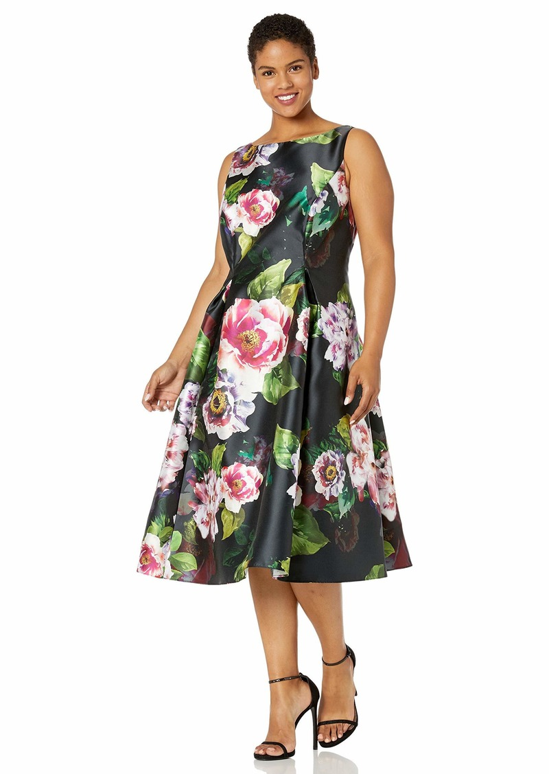 Adrianna Papell Women's Plus Size Sleeveless Floral Dress