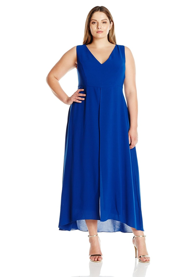 126a66f8 Adrianna Papell Adrianna Papell Women's Plus-Size Tonal Overlay ...