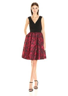 Adrianna Papell Women's Portrait Bodice Fit and Flare