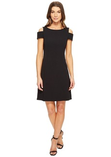 Adrianna Papell Women's Power Stretch Cold Shoulder A Line Dress